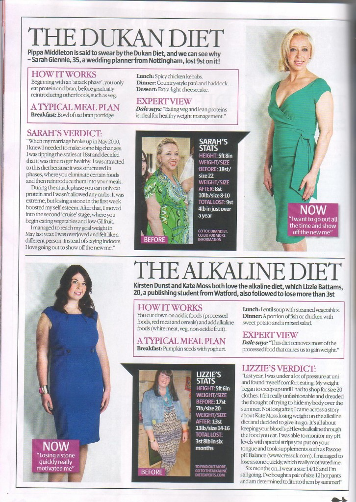 Andrew Bridgewater's Alkaline Diet Experts website is featured in Look Magazine
